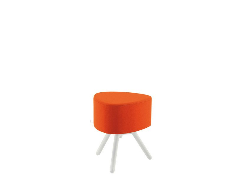 Low upholstered fabric stool BLOG | Fabric stool by Sesta