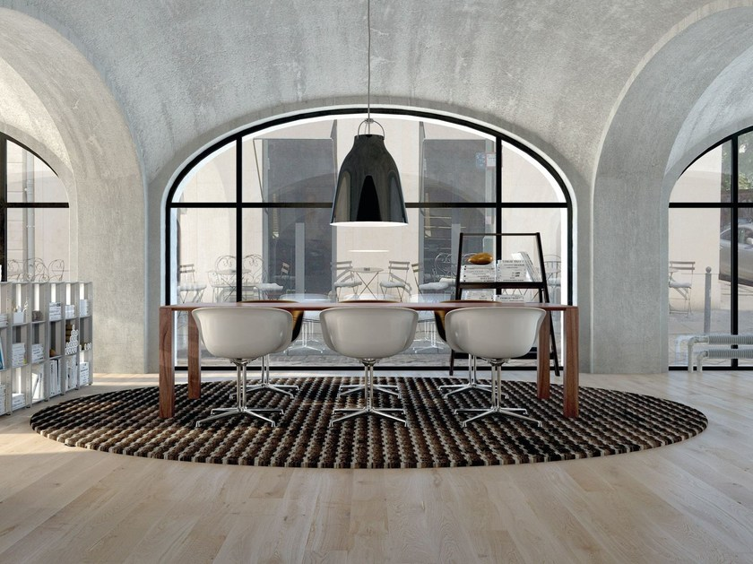 Rug with geometric shapes BLOGG | Fabric rug by OBJECT CARPET