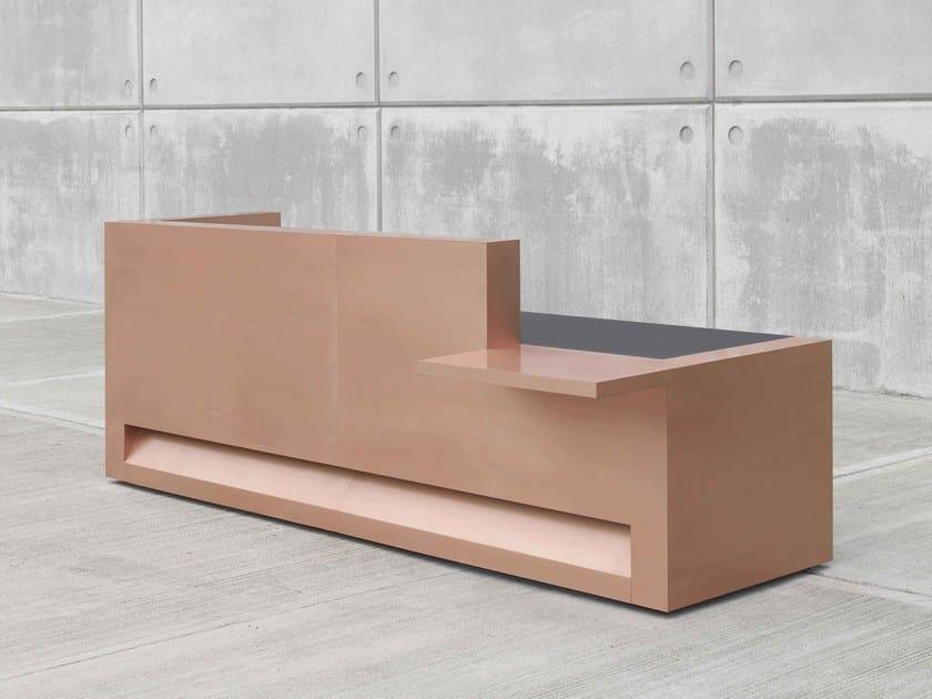 Modular copper Reception desk BLOK | Copper Reception desk by Isomi