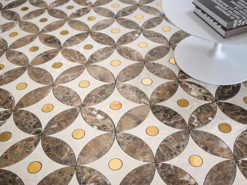 Marble flooring BLOOM 1 by Lithos Mosaico Italia
