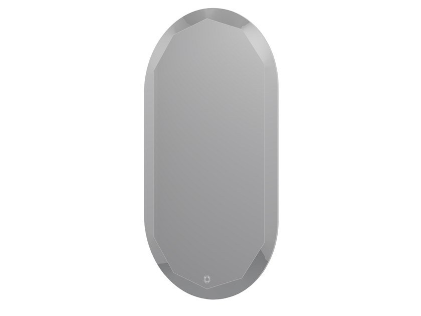 Oval bathroom mirror with integrated lighting BLOOM MIRROR 45 by JEE-O