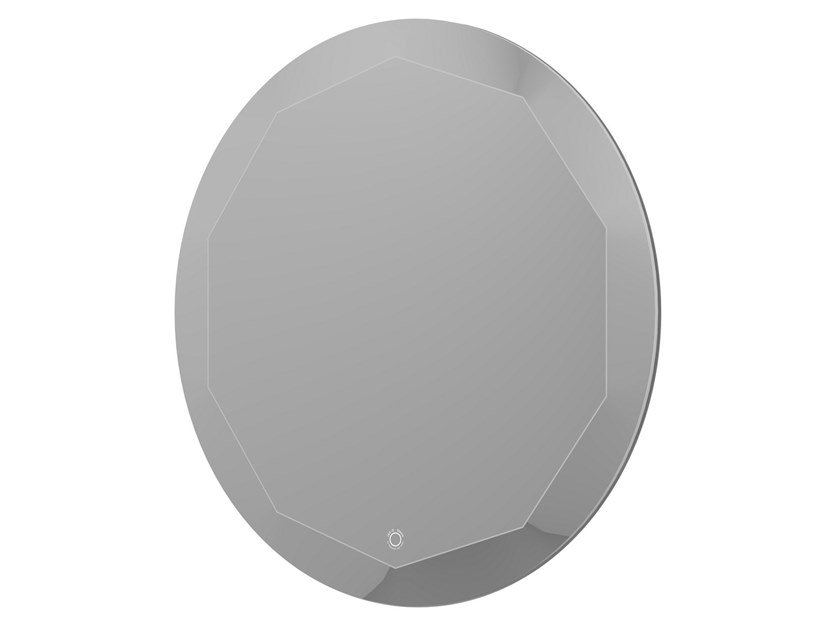 Round bathroom mirror with integrated lighting BLOOM MIRROR 60 by JEE-O