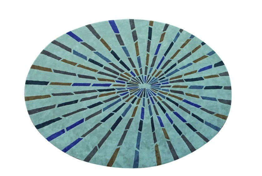 Patterned round fabric rug BLOOM by ROCHE BOBOIS