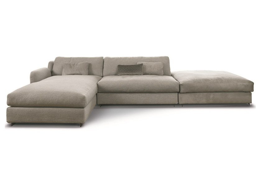 Sectional fabric sofa with chaise longue BLOOM | Sofa with chaise longue by CTS SALOTTI