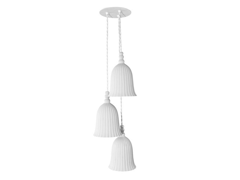 Porcelain pendant lamp BLOOMING TRIPLO | Pendant lamp by Vista Alegre