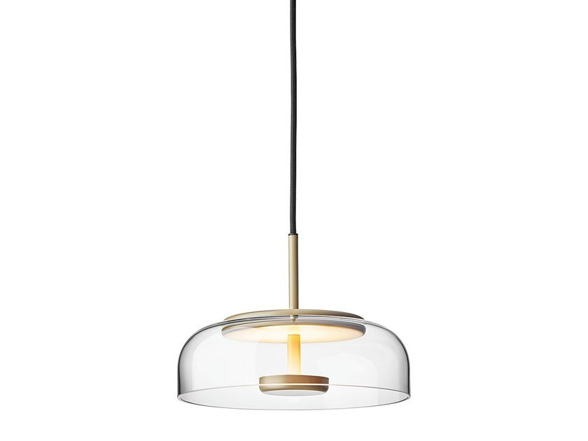 LED indirect light blown glass pendant lamp BLOSSI 1 by Nuura