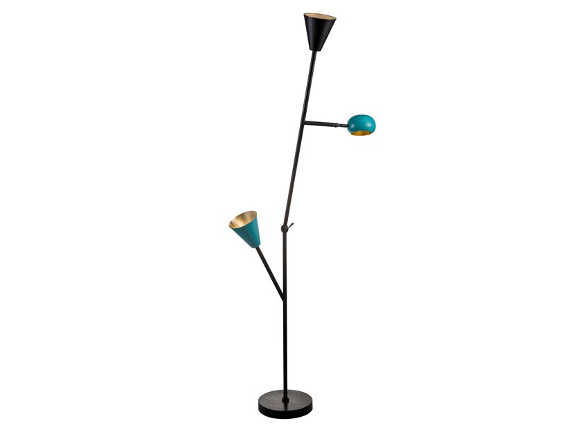 Adjustable brass floor lamp BLOSSOM TREE 02 by Il Bronzetto