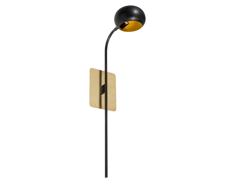 Brass wall light with fixed arm BLOSSOM TULIP 02 by Il Bronzetto