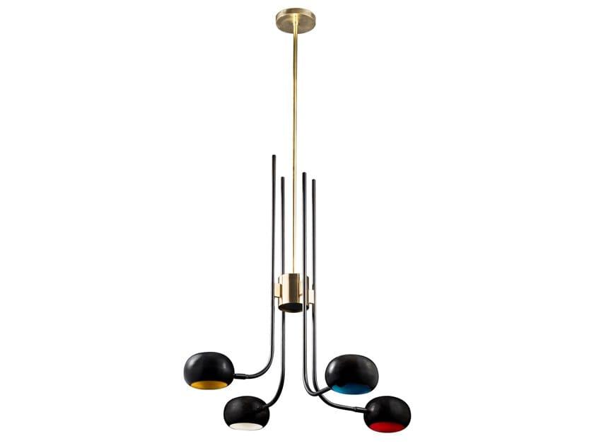 Brass chandelier BLOSSOM TULIP 01 by Il Bronzetto