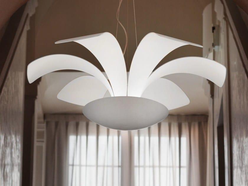 Lampada a sospensione a LED a luce indiretta in alluminio BLOSSOMY | Lampada a sospensione by Masiero