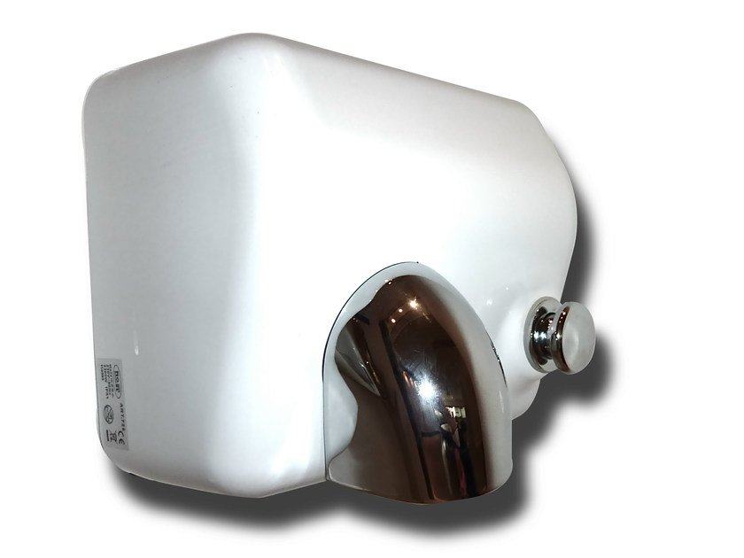 Steel Electric hand-dryer with push-button BLOW by Mo-el