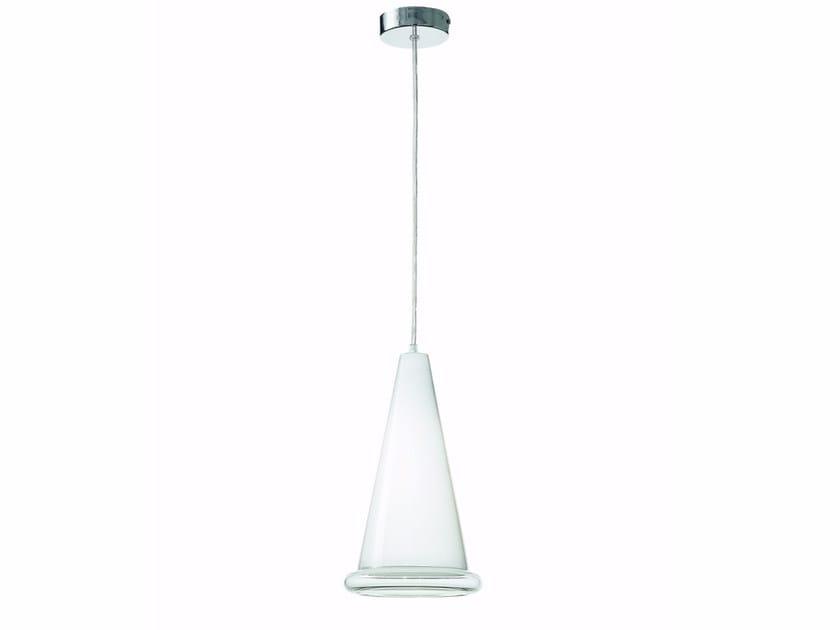 Lampada a sospensione in vetro soffiato ANITA | Lampada a sospensione in vetro soffiato by ROSSINI