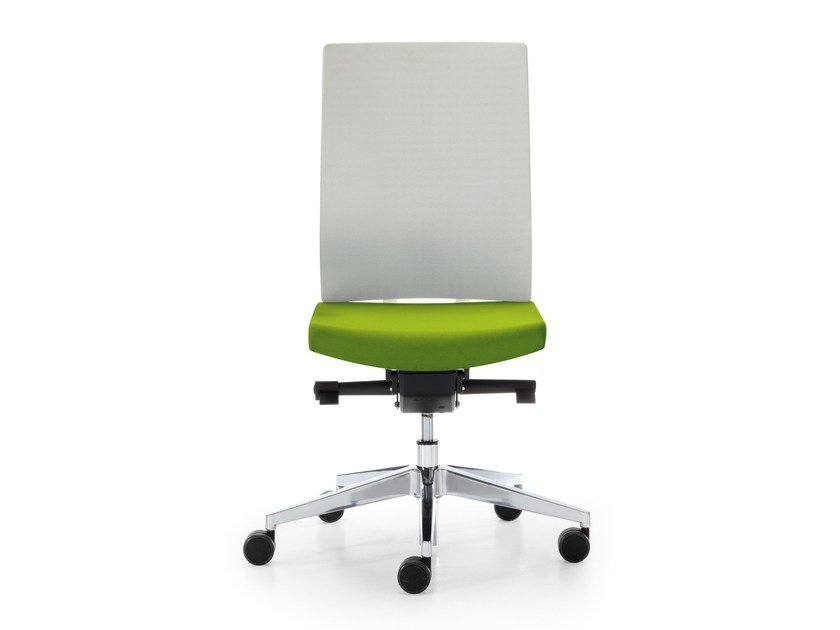 Height-adjustable fabric task chair with 5-Spoke base with casters BLUE | Fabric task chair by Sinetica