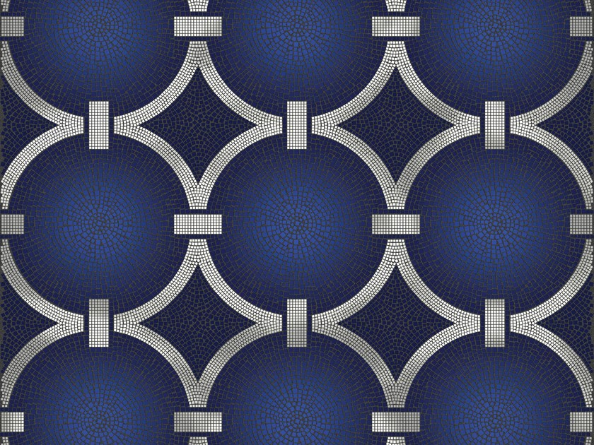 Mosaico in vetro BLUE RING by DG Mosaic