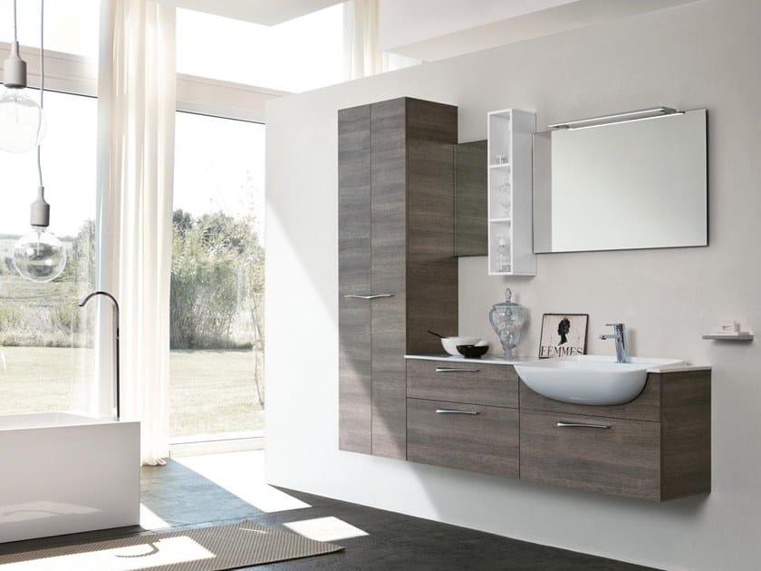 Mobile lavabo sospeso con specchio BLUES 01 by BMT