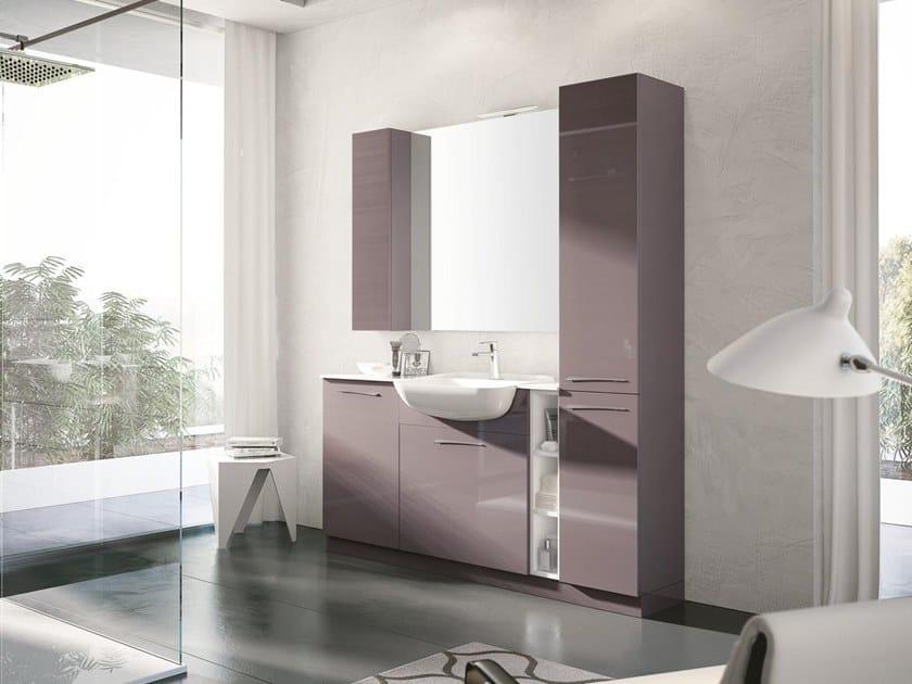 Mobile lavabo da terra con specchio BLUES 03 by BMT