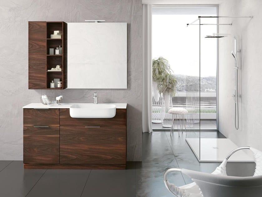 Mobile lavabo da terra con specchio BLUES 07 by BMT