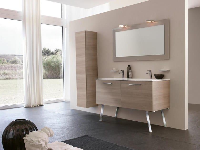 Mobile lavabo doppio con specchio BLUES 10 by BMT