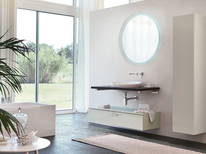Mobile bagno con piano e lavabo da semincasso BLUES 16 by BMT