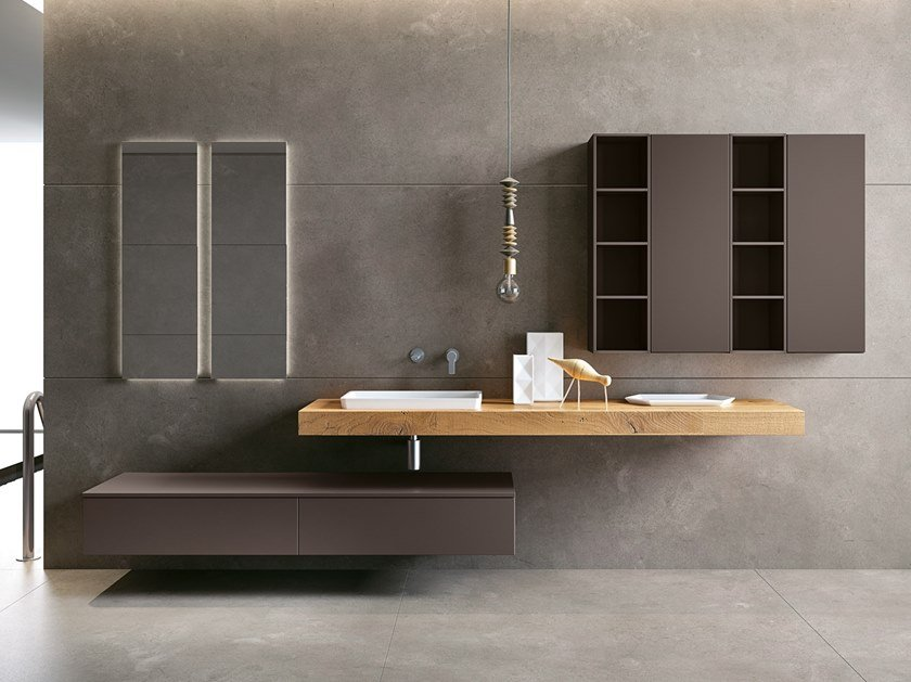Washbasin countertop / bathroom cabinet BLUES 2.01 by BMT