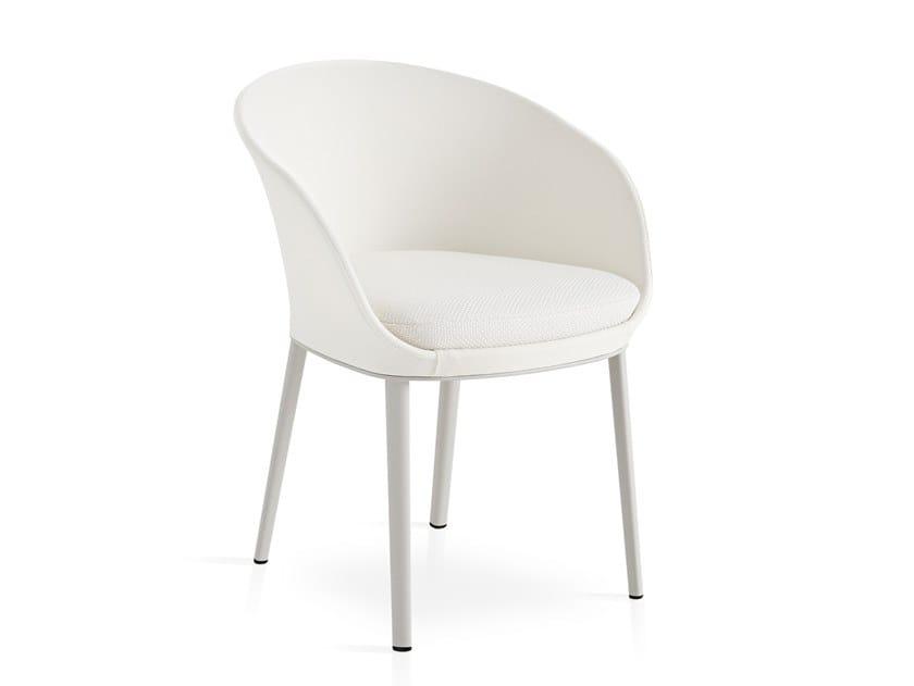 Aluminium garden chair with armrests BLUM by EXPORMIM