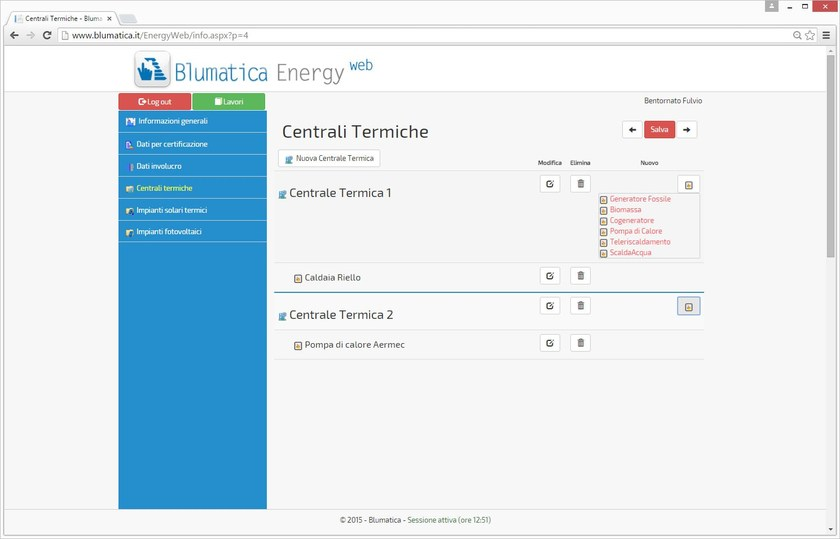 Blumatica Energy Web Centrali Termiche