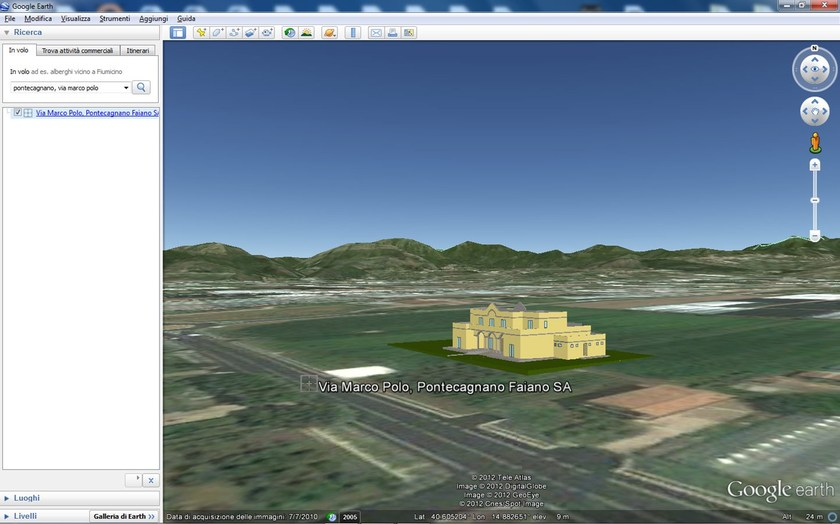 BlumatiCAD Earth 3D inserimento progetto in Google Earth