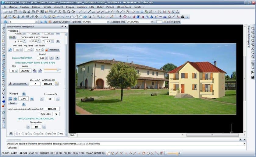 BlumatiCAD Fotoinserimento Paesaggistico fotoinserimento