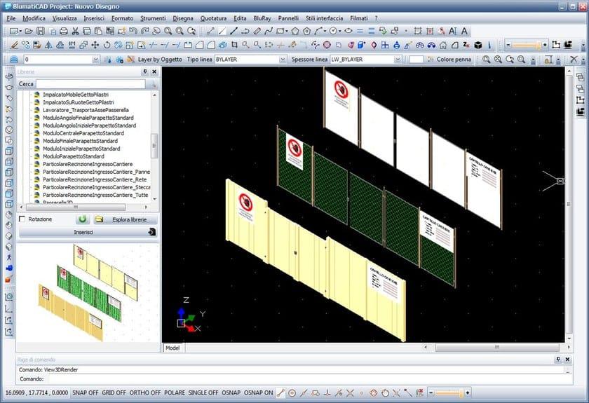 BlumatiCAD Project sicurezza cantieri - Recinzioni 3D