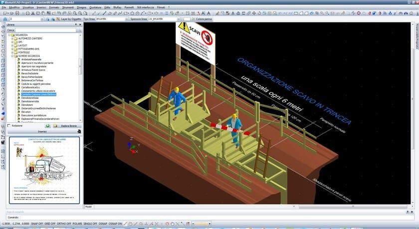 BlumatiCAD Project sicurezza cantieri - trincea e passerelle 3D