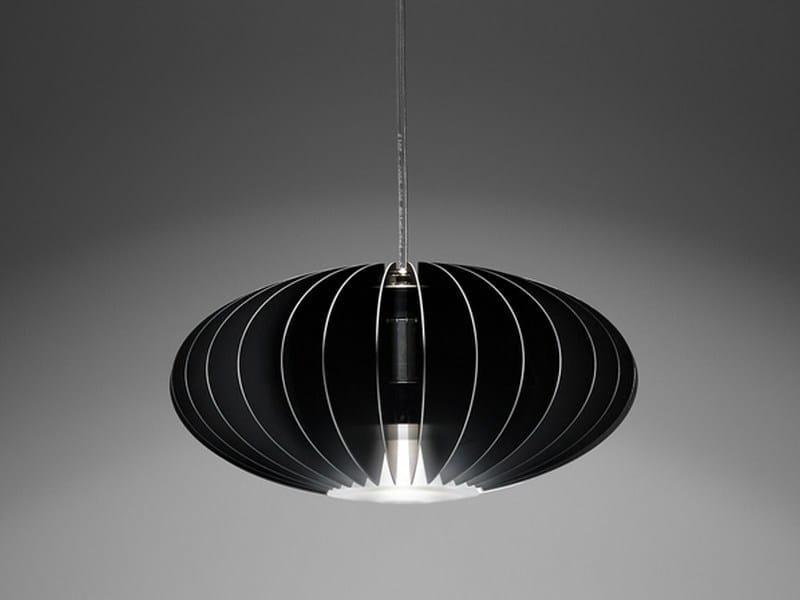 LED direct light aluminium pendant lamp BLUME D by PURALUCE