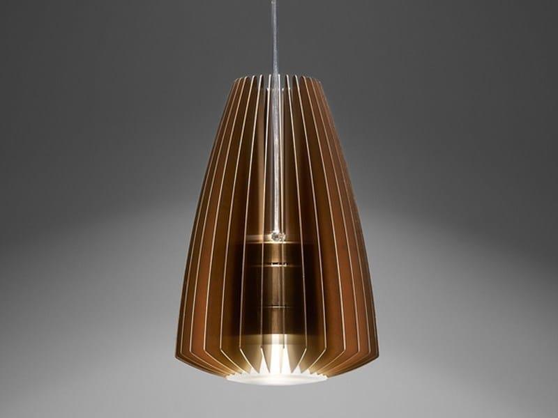 LED direct light aluminium pendant lamp BLUME L by PURALUCE