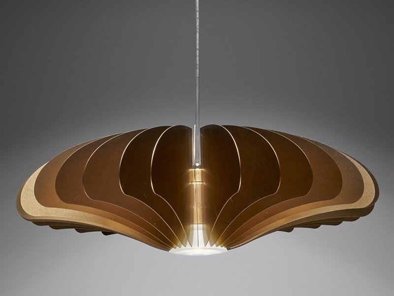 LED direct light aluminium pendant lamp BLUME M by PURALUCE