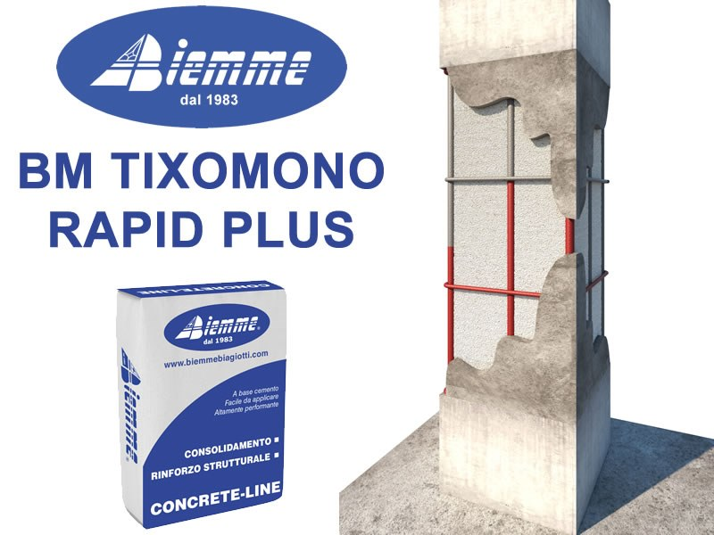 Fibre reinforced mortar BM TIXOMONO RAPID PLUS by Biemme