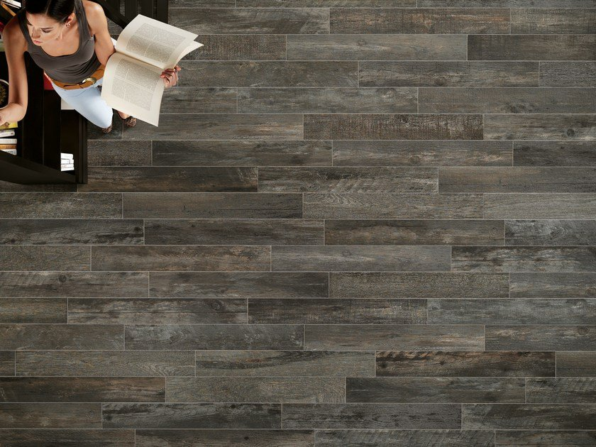 Porcelain stoneware wall/floor tiles with wood effect BOARDS ANTRACITE by ASTOR CERAMICHE