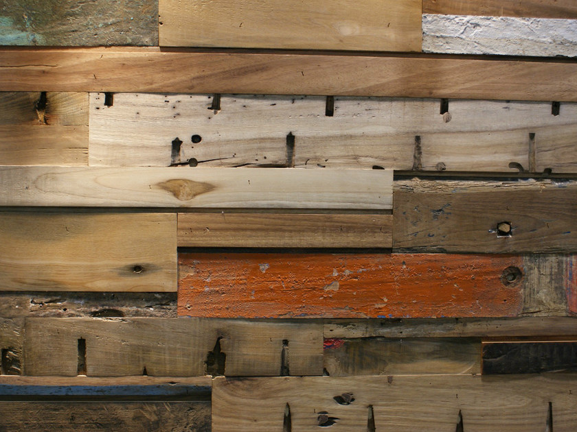Reclaimed wood 3D Wall Tile BOAT by Teakyourwall