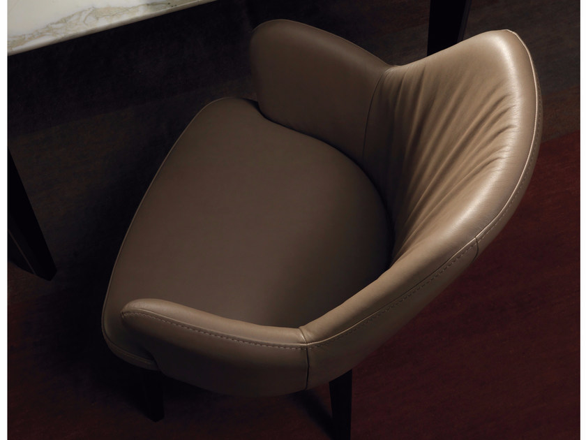 Upholstered leather chair BOB by Borzalino