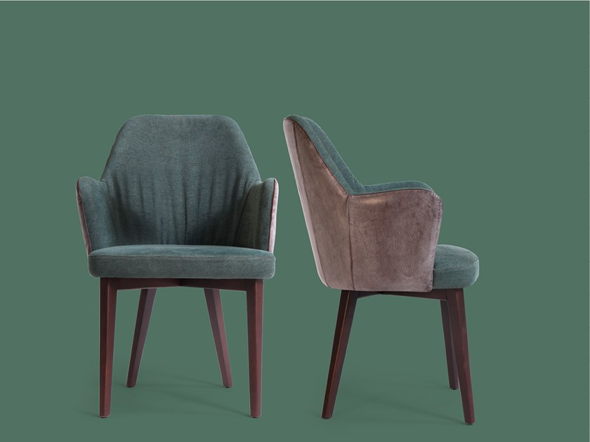 Upholstered leather chair BOB | Fabric chair by Borzalino