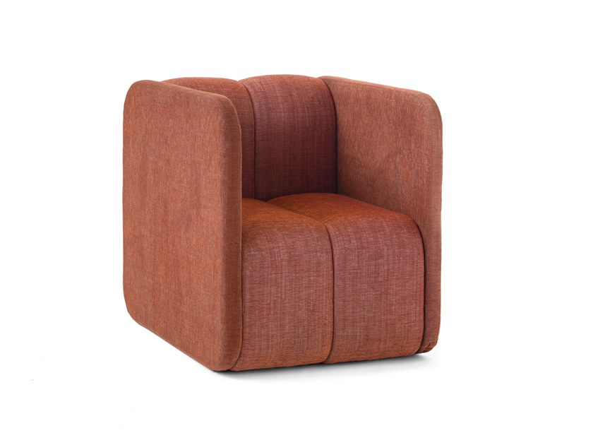 Fabric easy chair with armrests BOB JOB | Easy chair by Blå Station