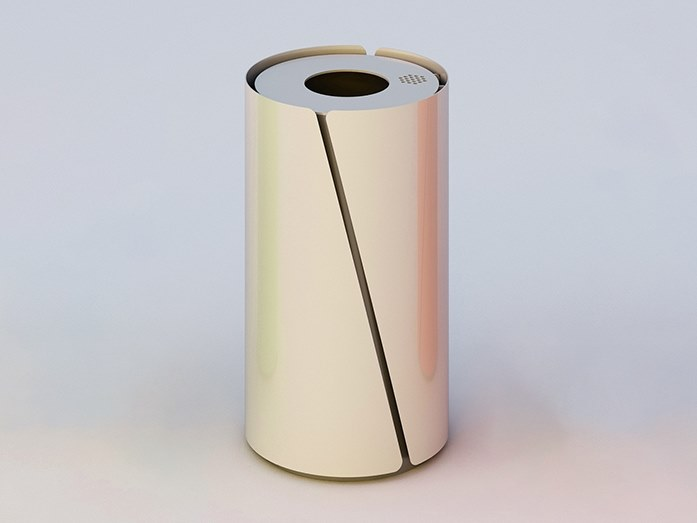 Litter bin with lid with ashtray BOB   Litter bin with ashtray by DIMCAR
