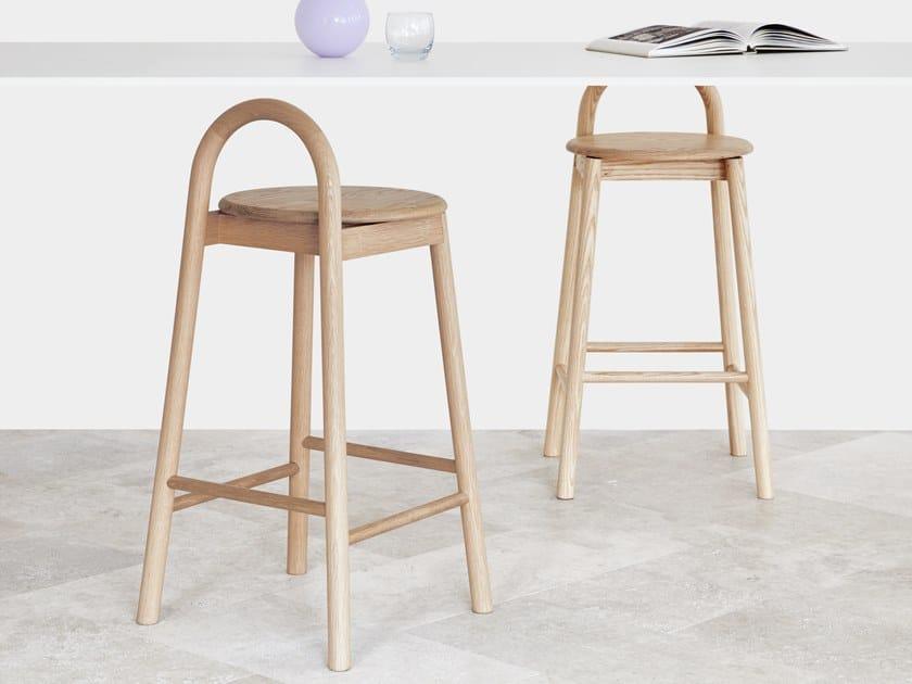 High barstool with footrest BOBBY | Barstool by DesignByThem