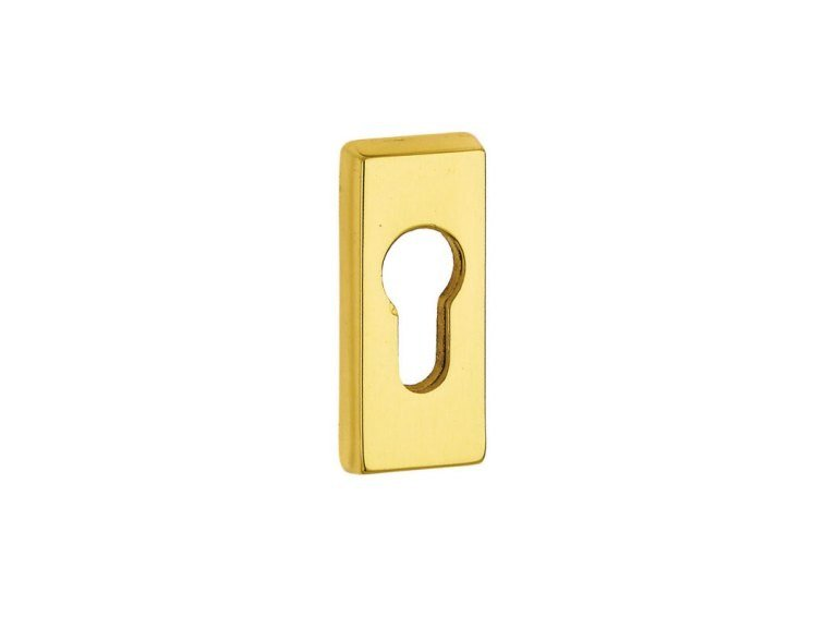 Rectangular brass keyhole escutcheon BOCCHETTA DI SICUREZZA | Keyhole escutcheon by Pasini