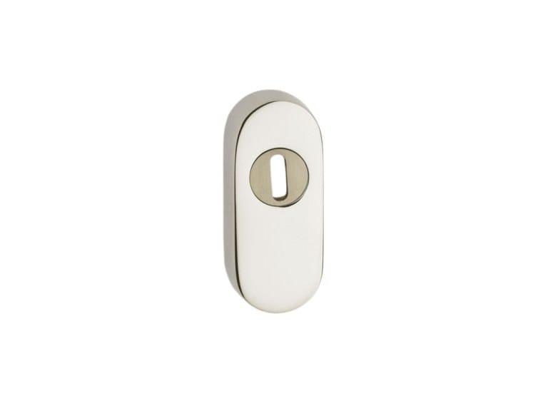 Oval brass keyhole escutcheon BOCCHETTA SICUREZZA OVALE | Keyhole escutcheon by Pasini