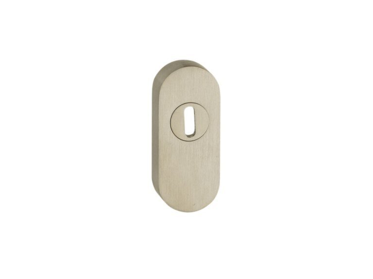 Oval stainless steel keyhole escutcheon BOCCHETTA SICUREZZA OVALE | Stainless steel keyhole escutcheon by Pasini