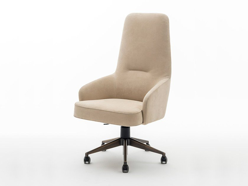 Height-adjustable fabric executive chair BOCCONI | Executive chair by OAK
