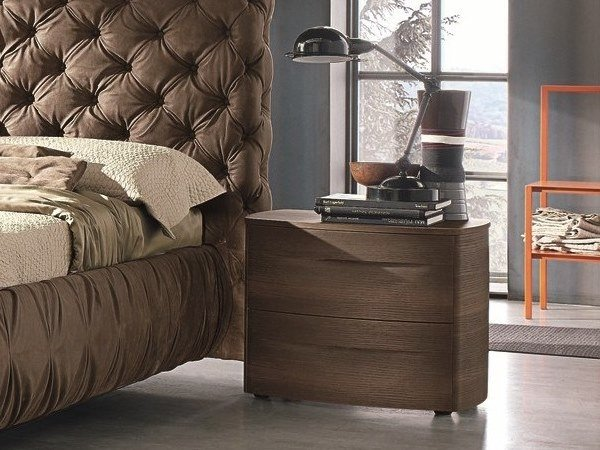 Wooden bedside table with drawers BOGART | Wooden bedside table by Gruppo Tomasella