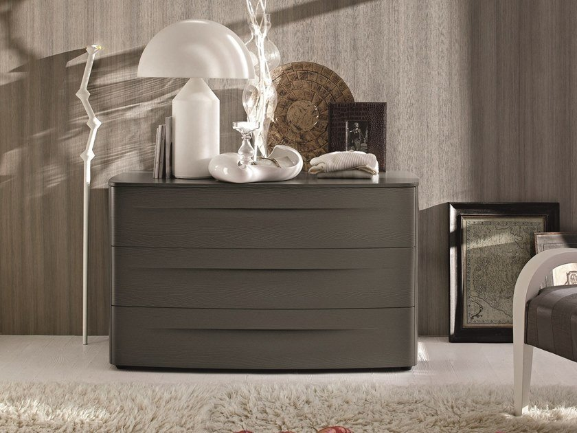 Wooden chest of drawers with integrated handles BOGART | Wooden chest of drawers by Gruppo Tomasella