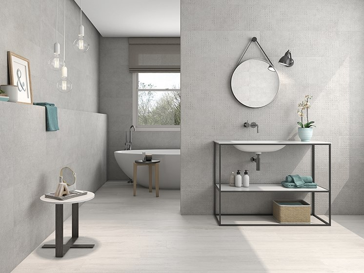 White-paste wall tiles with textile effect BOHEME by ITT Ceramic