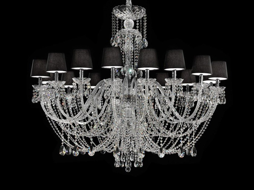 Direct light incandescent blown glass chandelier with crystals BOHEMIA VE 875 | Chandelier by Masiero