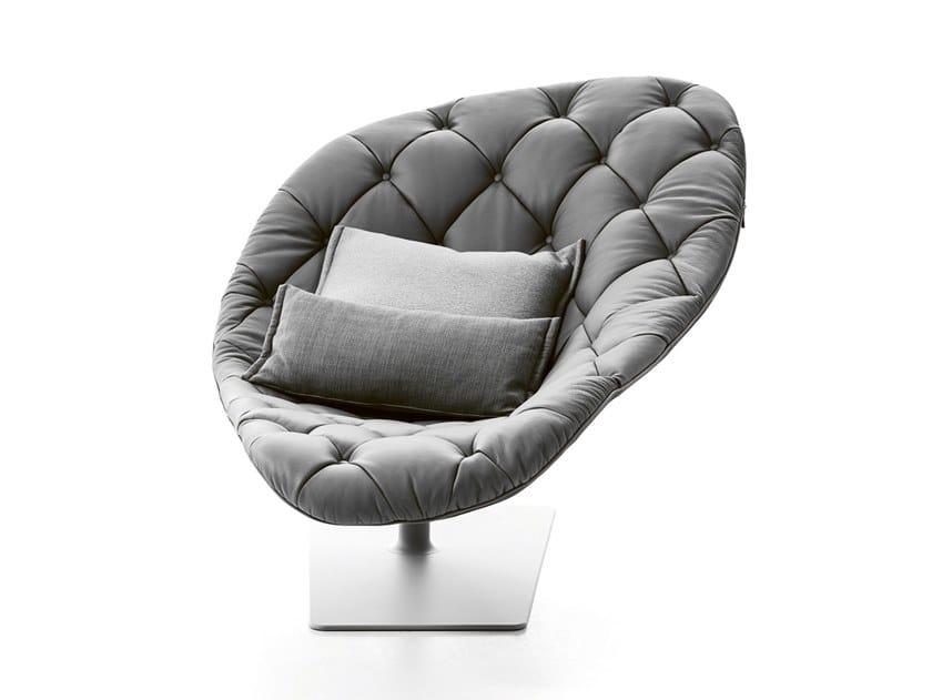 Tufted swivel fabric easy chair BOHEMIAN   Fabric easy chair by Moroso
